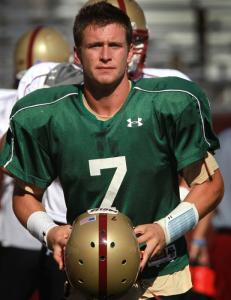 Signs are pointing to freshman Chase Rettig starting at quarterback against Notre Dame, but BC made no announcement yesterday.