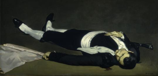 "Édouard Manet's ""The Dead Toreador'' began its life as part of a larger canvas, ""Incident at a Bullfight.'' It's on loan to the Worcester Art Museum."