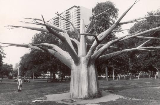 Albert Surman created The Liberty Tree, which, after the World's Fair, had a stay on Boston Common.