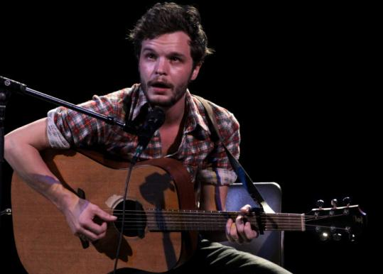 Kristian Matsson performs as the Tallest Man on Earth at the Somerville Theatre Friday.