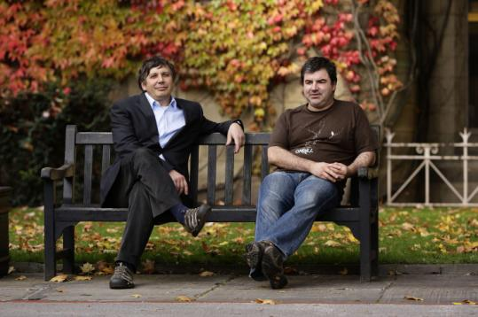 The work of Andre Geim (left) and Konstantin Novoselov could lead to new superstrong and lightweight materials.