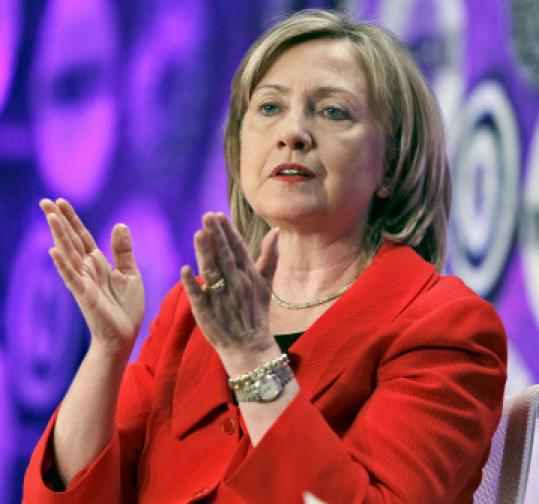 """I have absolutely no interest,'' Secretary of State Clinton said of running for vice president in 2012."