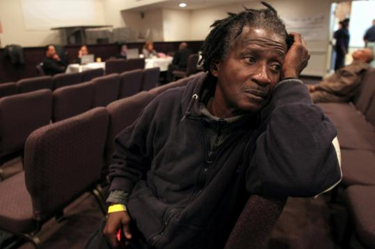 Douglas Millington was among 50 people who voluntarily appeared yesterday at a Mattapan church for the first day of the Fugitive Safe Surrender program.