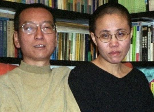 Dissident Liu Xiaobo with his wife, Liu Xia, in Beijing.