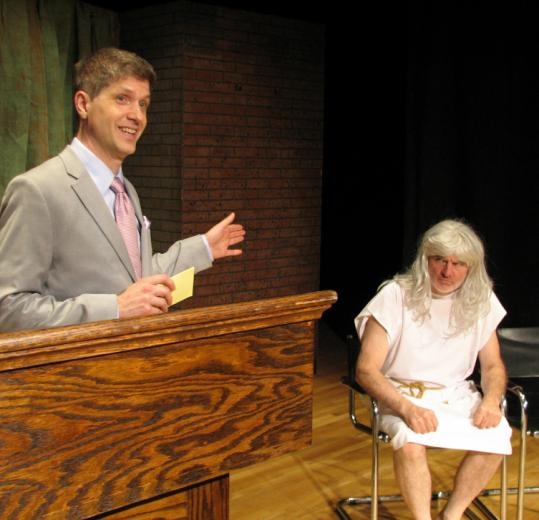 "Marc Harpin and Jeff Gill in Theatre on Fire's production of Ethan Coen's triptych of short plays, ""Almost an Evening.''"