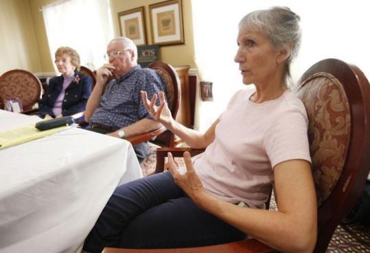 Bette Baldwin, Jack Dawson, and Dorcas Eppright talked about finances at a Boca Raton, Fla., retirement community.