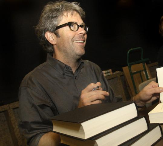 "Jonathan Franzen recently signing copies of his new book, ""Freedom,'' at the Boston Public Library."