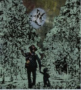 An untitled piece made in 2005 by Jörg Immendorff shows Joseph Beuys standing in the woods under a full moon, holding the hand of a monkey.
