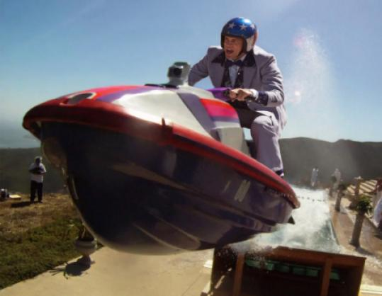"Johnny Knoxville performs a dangerous stunt in ""Jackass 3D.''"