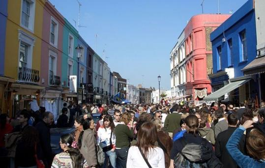 Portobello Road in London, with its shops and activity, gives Ruth Rendell's book its title.