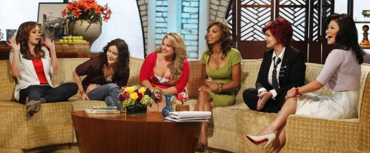 From left: Leah Remini, Sara Gilbert, Marissa Jaret Winokur, Holly Robinson Peete, Sharon Osbourne, and Julie Chen.