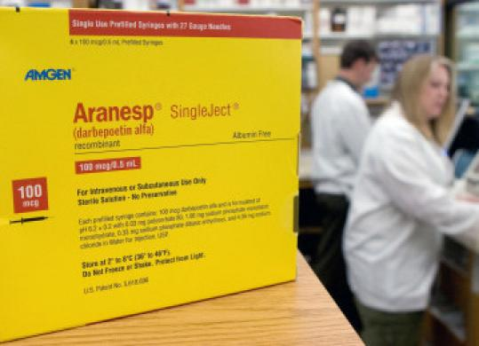 The FDA will make the final decision on who can use Amgen's anemia drugs.