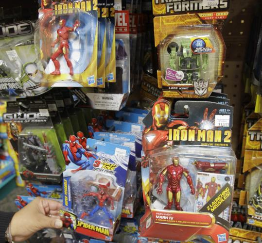 Hasbro sales rose this year without movie tie-ins after films based on its brands boosted revenue a year ago.