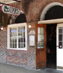 Coop's Place is an unassuming looking bar-restaurant in the French Quarter of New Orleans.