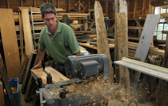 Carlisle retiree, carpenter craft driftwood into unique benches