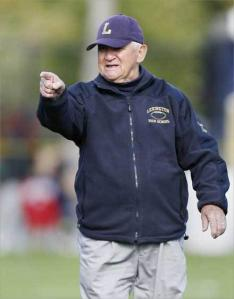 At 86, Bill Tighe is cited as the oldest high school football coach in the country.