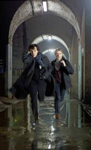 "Benedict Cumberbatch (left) plays Sherlock Holmes and Martin Freeman his sidekick, Watson, in the new PBS series ""Sherlock.''"