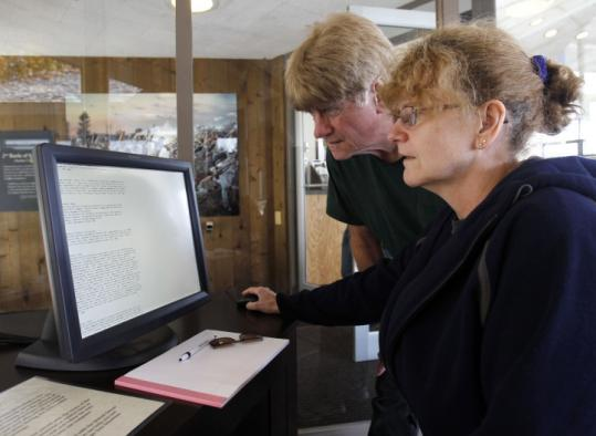 Leona and Bud Montanye checked the database at Saratoga National Historical Park for ancestors who may have fought in one of the most important battles of the Revolutionary War.