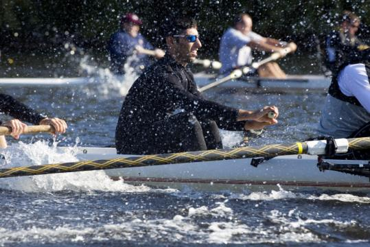 Kalaed Ismel trained on the Charles River in preparation for the regatta.