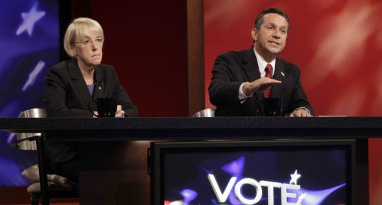 US Senator Patty Murray, a Democrat, and Republican challenger Dino Rossi are running in a dead heat for the seat in Washington state. Both candidates are drawing millions in contributions in the race, one of 10 seats the GOP targeted this year.