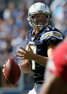 Chargers quarterback Philip Rivers is always looking for the big play, which is why he leads the NFL in passing yards.