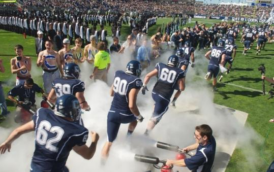 The University of Connecticut packs in fans at its 40,000-seat stadium, built in 2003.