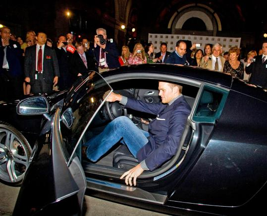 Tom Brady exited an Audi R8 at a gala event in Boston in 2009. Below, MAC lipstick is promoted by pop star Lady Gaga, and Bono pitches Louis Vuitton products.