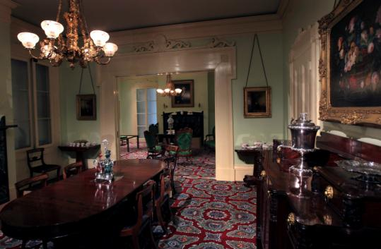 The Dining Room And Parlor From Roswell Gleasonu0027s House, Built Around 1840  In Fields Corner