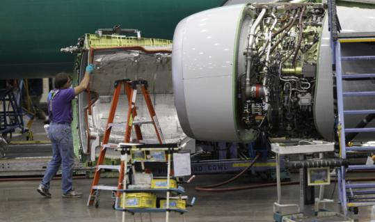 Orders for big-ticket goods such as Boeing airplanes increased last month.