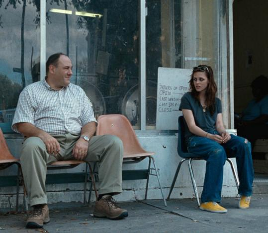 James Gandolfini plays a bereaved father who tries to fix things for teenage runaway Kristen Stewart.