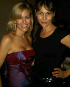 Tiffany Dowd (left) and Adriana Sassoon at the fashion event.