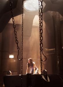 "Gina Holden in a scene from horror film ""Saw 3D.''"