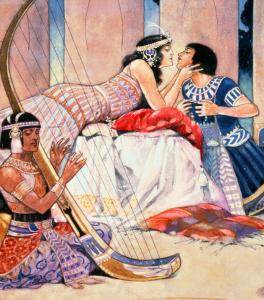 Visions of Cleopatra: a scene by illustrator Rene Bull.