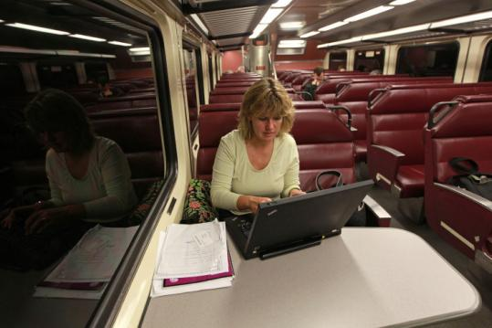 Norwell resident Ann Dwyer, riding on the Greenbush line last week, said though she had opposed the project, she became a convert in 2008 after taking a job with a company in Boston.