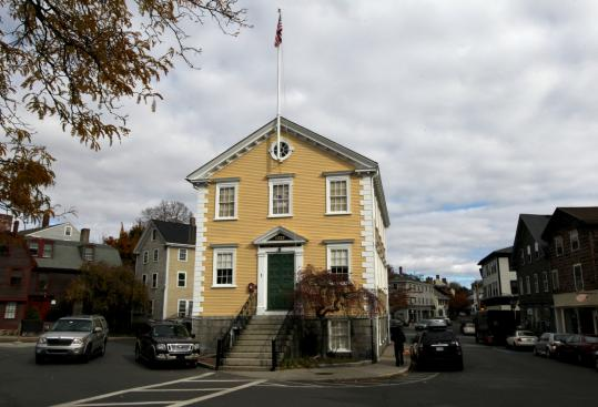 Marblehead's Old Town House, thought to be the oldest active polling place in the country, was closed to voters yesterday. The town was ordered to move a polling station out of the building because it did not meet standards for handicapped accessibility.