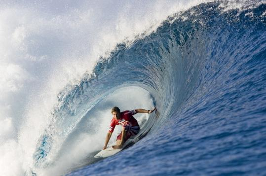 Andy Irons surfed in a 2006 Billabong pro tour event in Teahupoo, Tahiti. He won the world championship in 2002, &#8217;03, and &#8217;04.