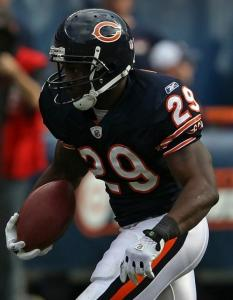 The Bears, who haven't had success running near the goal line, are turning to Chester Taylor.