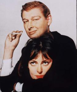 Elaine May with her 1950s-early '60s improv partner, Mike Nichols.
