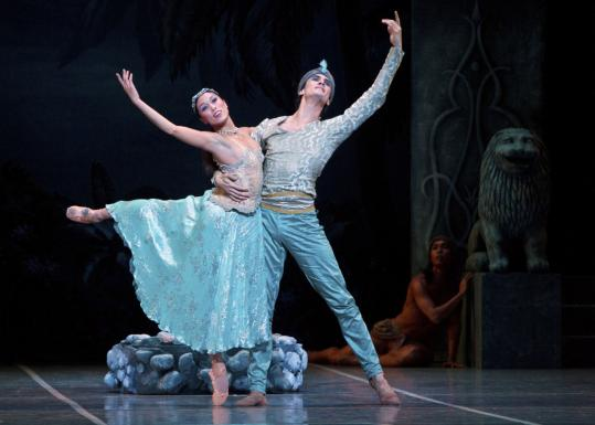 Lia Cirio, playing Nikiya, and Lasha Khozashvili, as Solor, performed during a dress rehearsal.