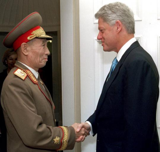 Jo Myong Rok, as special envoy to North Korea's leader, met with Bill Clinton in 2002 during a rare visit to Washington.