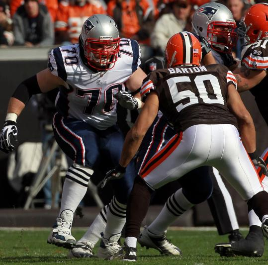 "Logan Mankins jumped into the starting lineup Sunday. ""Logan did some good things,'' said coach Bill Belichick."