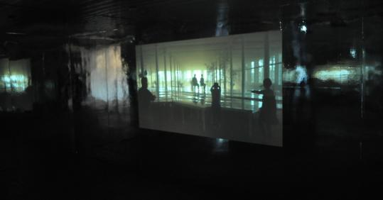 "A still from Megan and Murray McMillan's video installation ""What Stands Between Us and the Sun.''"