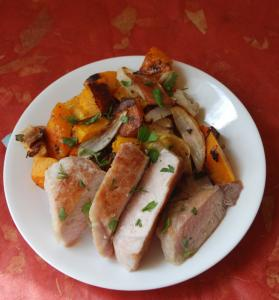 ... pork chops with butternut squash, onions, and apples - The Boston