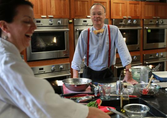 """Erin McMurrer and Chris Kimball of """"America's Test Kitchen.''"""