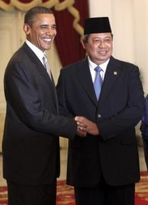 President Obama and Indonesia's leader, Susilo Bambang Yudhoyono, visited Merdeka Palace in Jakarta yesterday.