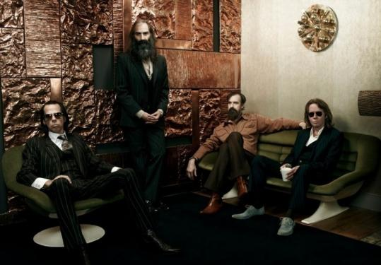 Nick Cave (far left) with his side project, Grinderman.