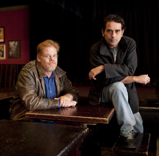 """Bill Doncaster (left), a playwright, has adapted the Boston crime novel """"The Friends of Eddie Coyle'' for the stage, with Paulo Branco in the lead. It will be read at the Burren Saturday."""