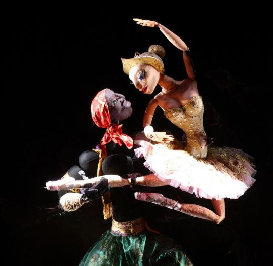 """The duet between the Ballerina and the Moor in """"Petrushka.''"""