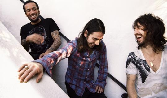 From left: Ben Harper, Dhani Harrison, and Joseph Arthur wrote and recorded their debut album as Fistful of Mercy, 'As I Call You Down,' in three days.