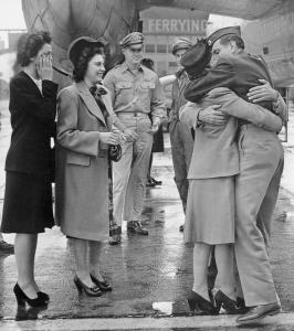 Louis Zamperini's homecoming in California in 1945.